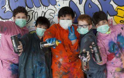 Bekijk de expositie kinder-graffiti 'Vang je droom'